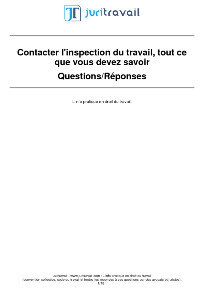 inspection du travail juriste