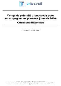 Conge Paternite Comment Calculer Prendre Son Conge Paternite