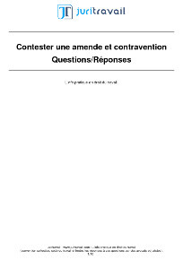 Contestation Amende Contravention
