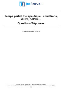 Mi Temps Therapeutique Droits Conditions Du Temps Partiel