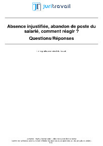 Absence Injustifiee Du Salarie Comment Reagir