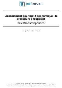 Licenciement Economique Collectif Motifs Procedure Employeur