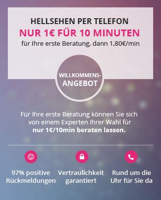 Hellsehen per telefon nur 1€ für 10 minuten